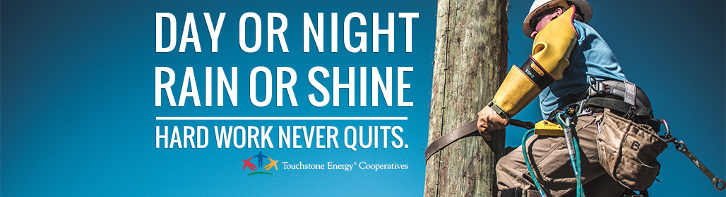 Day or night, rain or shine; hard work never quits.